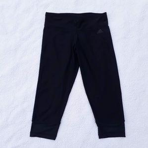 Adidas Climalite Capri Leggings with Mesh Trim